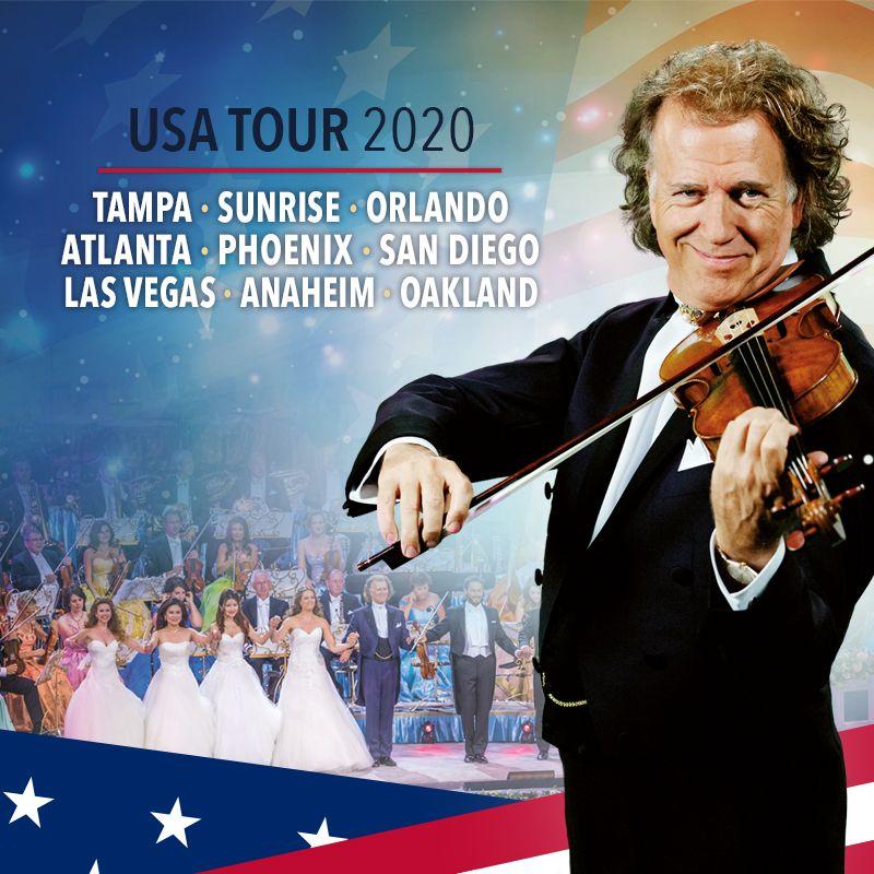 Andre Rieu Christmas Concert 2020 Travel USA 2020 Tour